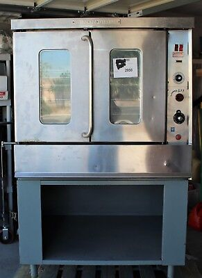 Montague 115x Ag Series Full Size Gas Convection Oven Wracks And Stand. Tested