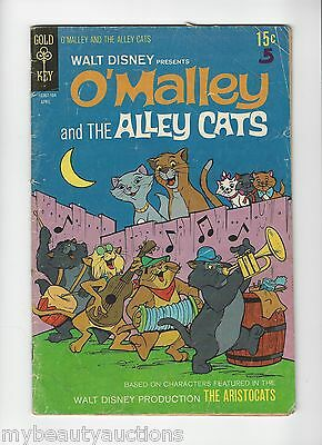 Gold Key Comics Walt Disney Presents O'Malley & The Alley Cats # 1 April 1971
