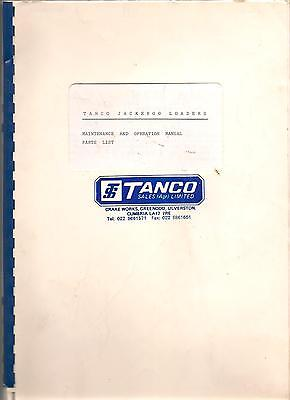 Tanco Jackeroo loaders Maintenance and operation manual Parts list 20 pages with