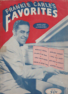 Frankie Carle's Favorites piano sheet music 8 songs 36 pages