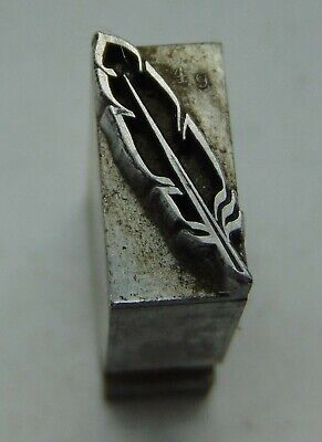 Printing Letterpress Printers Block All Lead Feather Tiny