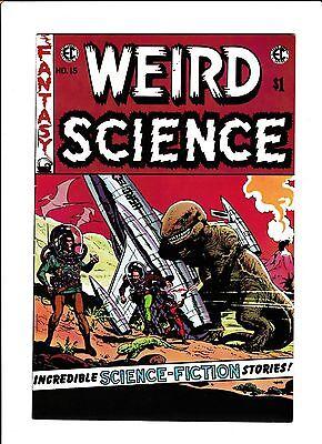 E.C. CLASSIC REPRINT  [1973 FN]  WEIRD SCIENCE #15  DINOSAUR COVER!