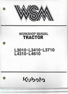 Kubota L3010 L3410 L3710 L4310 L4610 Workshop Service Repair Manual
