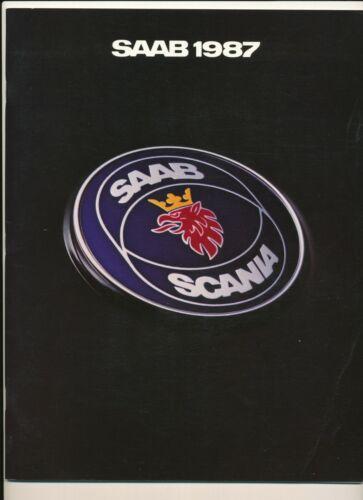 Saab 1987 brochure book booklet info with Saab 900 & 9000 USA