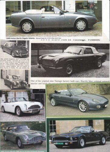 230 + LOT Aston Martin Automobiles FOR SALE Magazine Clips - Majority UK issue