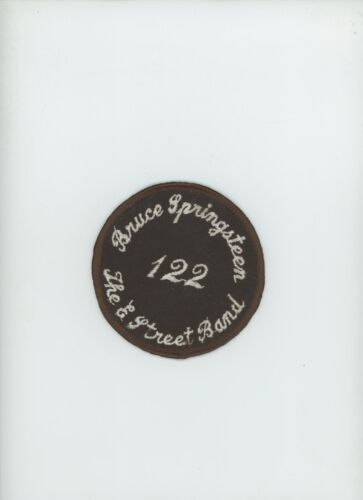 Bruce Springsteen The E Street Band VINTAGE ROUND CLOTH PATCH Seldom Seen Promo