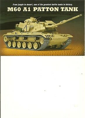 NO TANK)Danbury Mint Brochure/Paperwork Only M60 A1 Patton tank 1:35 for sale  Winchester