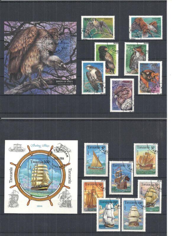 Afrika, Tansania/Tschad 1971 - 1994, Sammlungen mit Blöcken, sauber gestempelt o