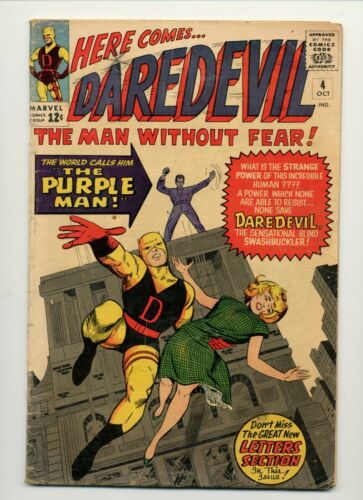 DAREDEVIL #4 (1964 MARVEL) 1ST APPEARANCE OF THE PURPLE MAN