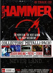 METAL HAMMER METALLICA THROUGH THE NEVER Collectors Pack Poster CD Stickers @NEW