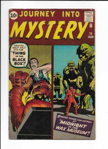 JOURNEY INTO MYSTERY #74 ==> VG MARVEL PRE-HERO MONSTERS 1961