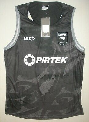BNWT Large New Zealand Kiwis Rugby League Training Singlet  ISC