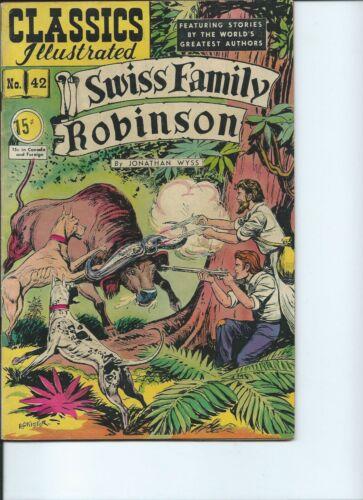Swiss Family Robinson Classics Illustrated # 42 19470 HRN 75 Fine