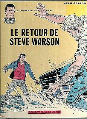 GRATON - MICHEL VAILLANT 9 - LE RETOUR DE STEVE WARSON (EO) TRES BON ETAT