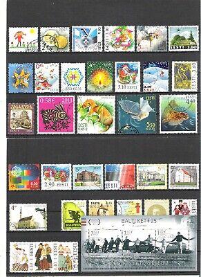 Estonia postally used stamps.