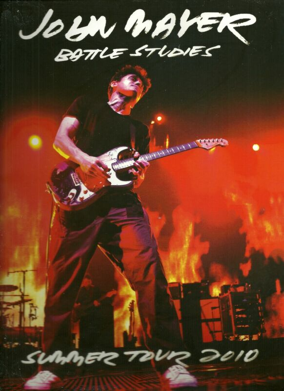 John Mayer Concert Program  2010  Battle Studies Tour