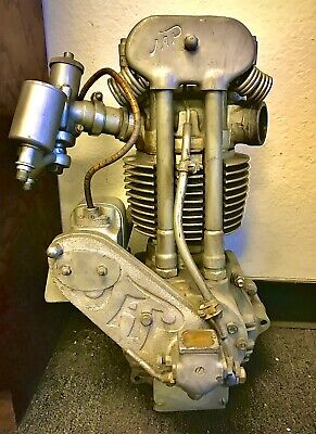 JAP Harley Indian Race Speedway Motor cycle Engine 1934 Big Bore Hairpin RaRe