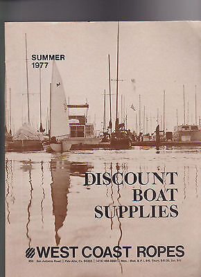West Coast Ropes Discount Boat Supplies Catalog Summer 1977