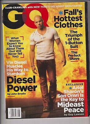 GQ Mag Vin Diesel Ariel Sharon Fall's Clothes August 2002 (Vin Diesel Clothes)