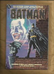 Batman movie adaptation vfn/nm 1989 1 Graphic Novel first print Joker DC comics