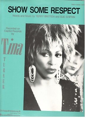 show some respect turner tina 1984 piano vocal sheet music
