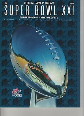 NEW Vintage SUPER BOWL XXI Official GAME PROGRAM, Broncos v. Giants 1-25-1987 Super Bowl Xxi