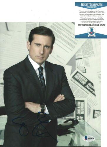 ACTOR STEVE CARELL SIGNED THE OFFICE 8x10 SHOW PHOTO BECKETT COA MICHAEL SCOTT