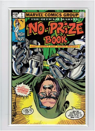 No Prize Book #1 1982 Michael Golden Signed High Grade Stan Lee Cover