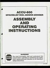 Foley ACCU 600 Spin Relief Reel Mower Sharpener Grinder