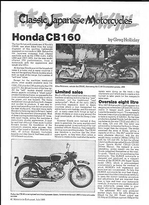 Honda CB160 technical & historical literature- 9 items