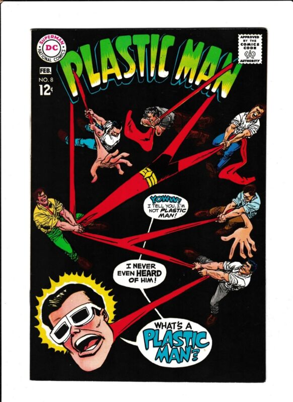 """PLASTIC MAN  #6  [1968 FN-VF]  """"THE UNFORGETTABLE WOT"""