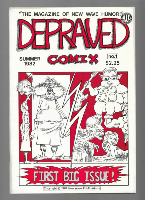 RARE VINTAGE HTF 1982 New Wave Publications DEPRAVED COMIX #1 Underground Comics