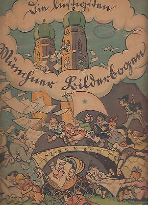 Lustige Münchner Bilderbogen Band 1,2,3,5 jeweils 12 Bilderbögen. ca. 1900