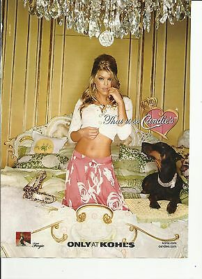 "Fergie /Kohls ""Candies"" 2007 print magazine ad."