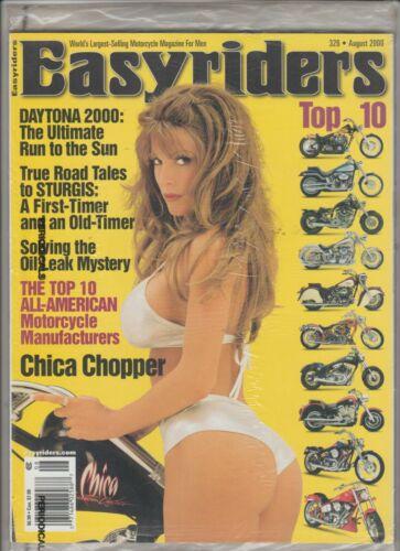 Easyriders Motorcycle Magazine #326 August 2000 (Factory Sealed) w/ bonus