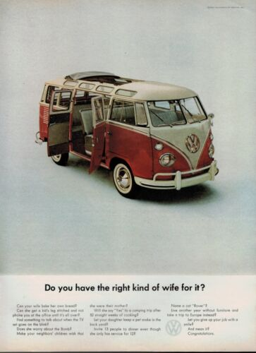1963 VOLKSWAGEN , VW Station Wagon : magazine PRINT AD **