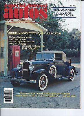 Special Interest Auto    82   1965 Barracuda  1959 Chevy El Camino  31 Olds