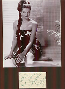 SAMANTHA-EGGAR-BEAUTIFUL-SEXY-AUTHENTIC-SIGNED-AUTOGRAPH-DISPLAY-UACC
