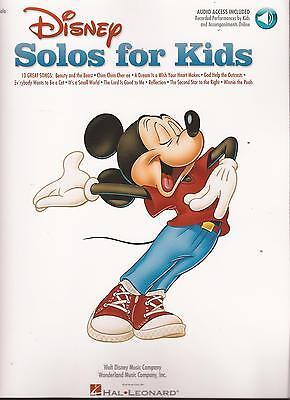 Klavier Gesang Noten - DISNEY SOLOS FOR KIDS -10 leichte, bekannte Disney-Lieder
