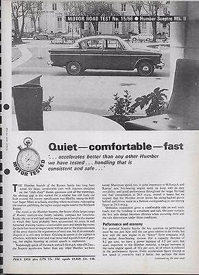 Motor magazine road test: 1966 Humber Sceptre Mark II (6-page road test)