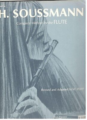 H. SOUSSMANN COMPLETE METHOD FOR THE FLUTE PART 3 MUSIC BOOK-RARE-NEW ON SALE!!