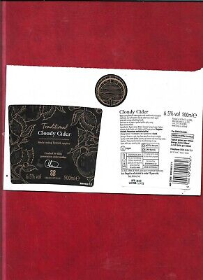 Cider bottle labels - Traditional Cloudy Cider (produced for Co-Op stores)