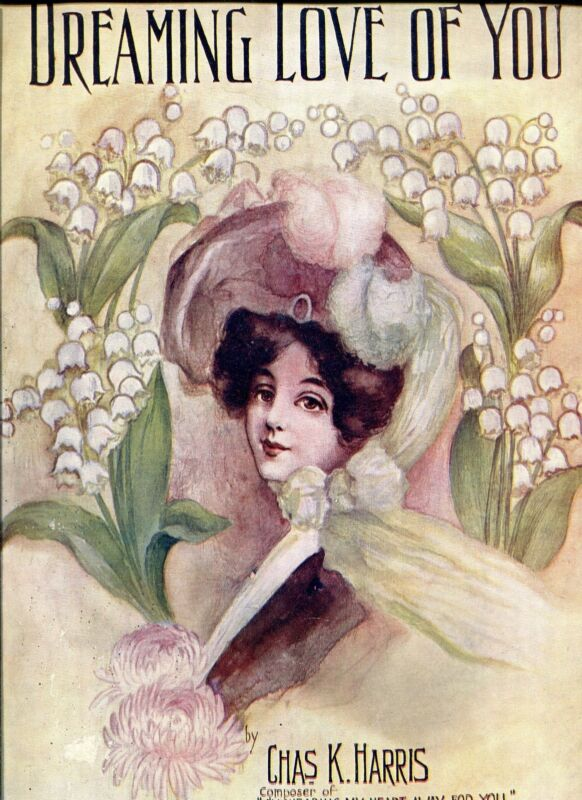 SHEET MUSIC - DREAMING LOVE OF YOU - by CHAS. K. HARRIS -  STARMER COVER - 1905