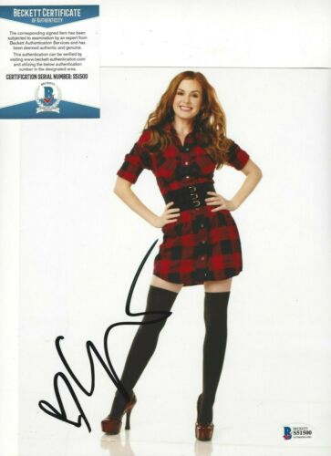 SEXY ISLA FISHER SIGNED 'NOW YOU SEE ME' 8x10 MOVIE PHOTO BECKETT COA ACTRESS