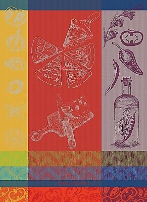 GARNIER THIEBAUT, PIZZA, POMODORO, FRENCH JACQUARD KITCHEN / TEA TOWEL, NEW