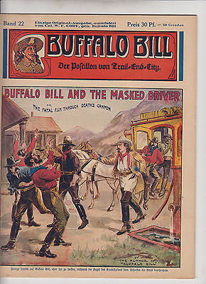 Buffalo Bill 1930 Originalheft Nr. 22 im Zustand (0-1/1) Top Zustand Kühn Verlag
