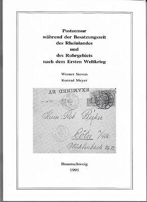 Postzensur Besatzungszeit Rheinland/Ruhrgebiet nach dem1.Weltkrieg.