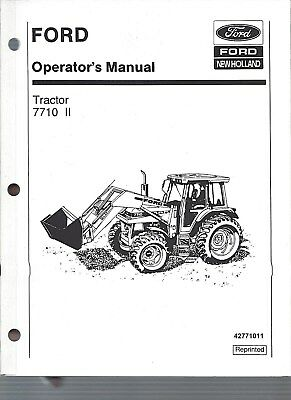 Ford 7710 Tractor Operators Manual Series Ii 1985 To 1991 Wcab 42771011