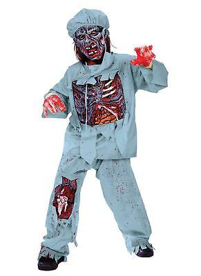 Zombie Doctor Costume Child - Kids Scary Zombie walk - Halloween Fancy Dress - Zombie Doctor Costume