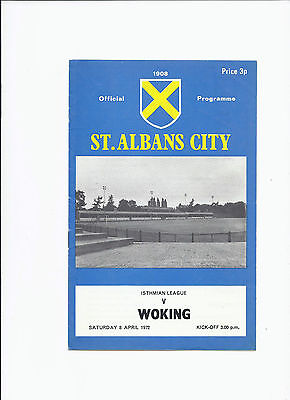 St Albans v Woking 8 April 1972 Isthmian League